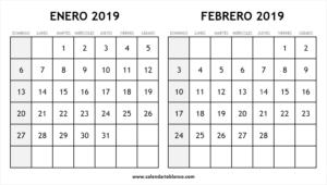 Enero Febrero 2019 Calendario Actividades De Matematicas