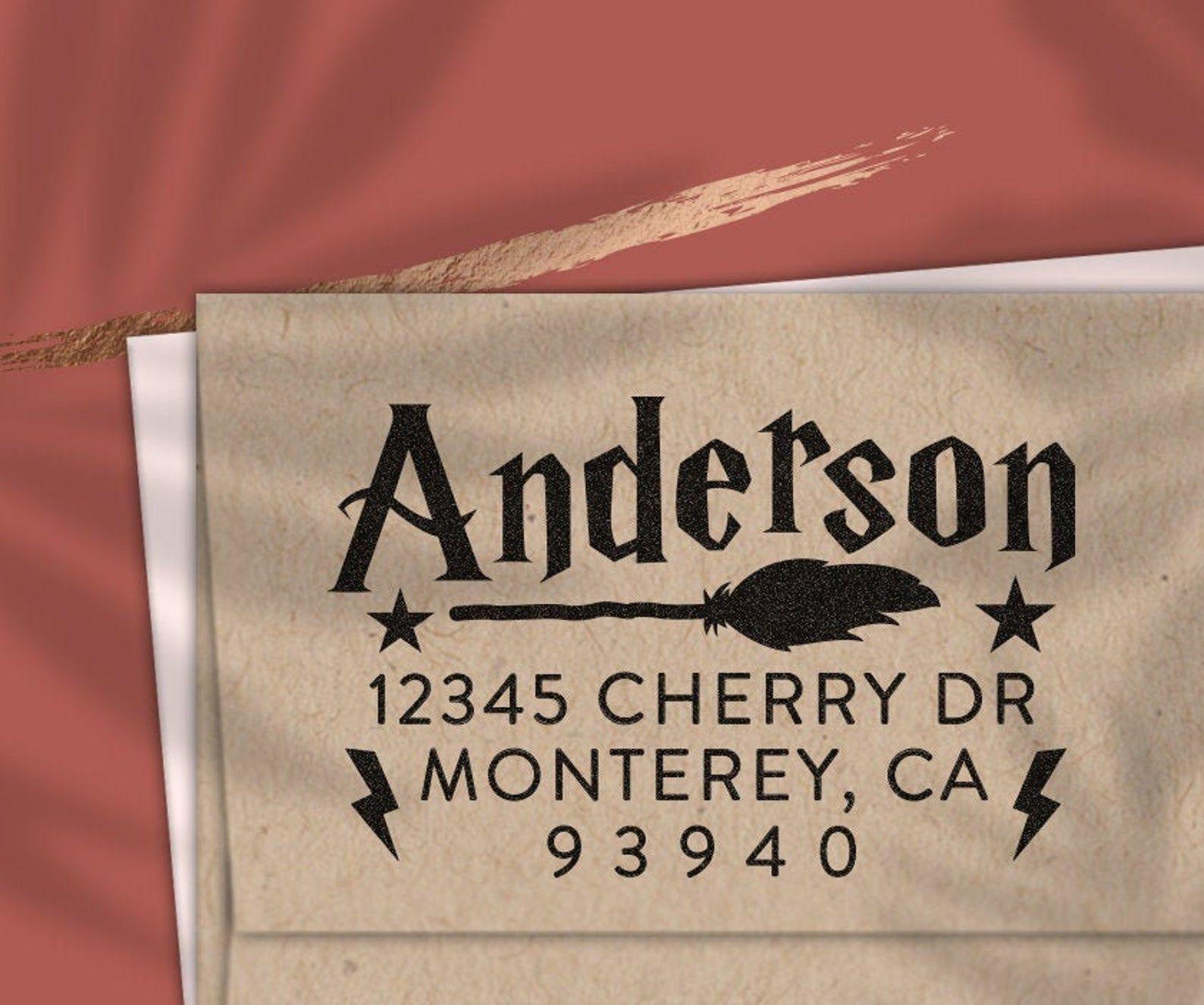 Custom Return Address Stamp Harry Potter Stamp Self Ink