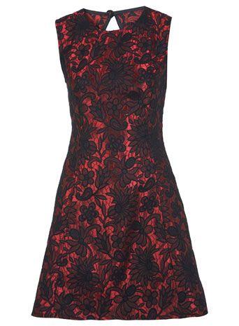 Petites Jacquard Lace Dress 32