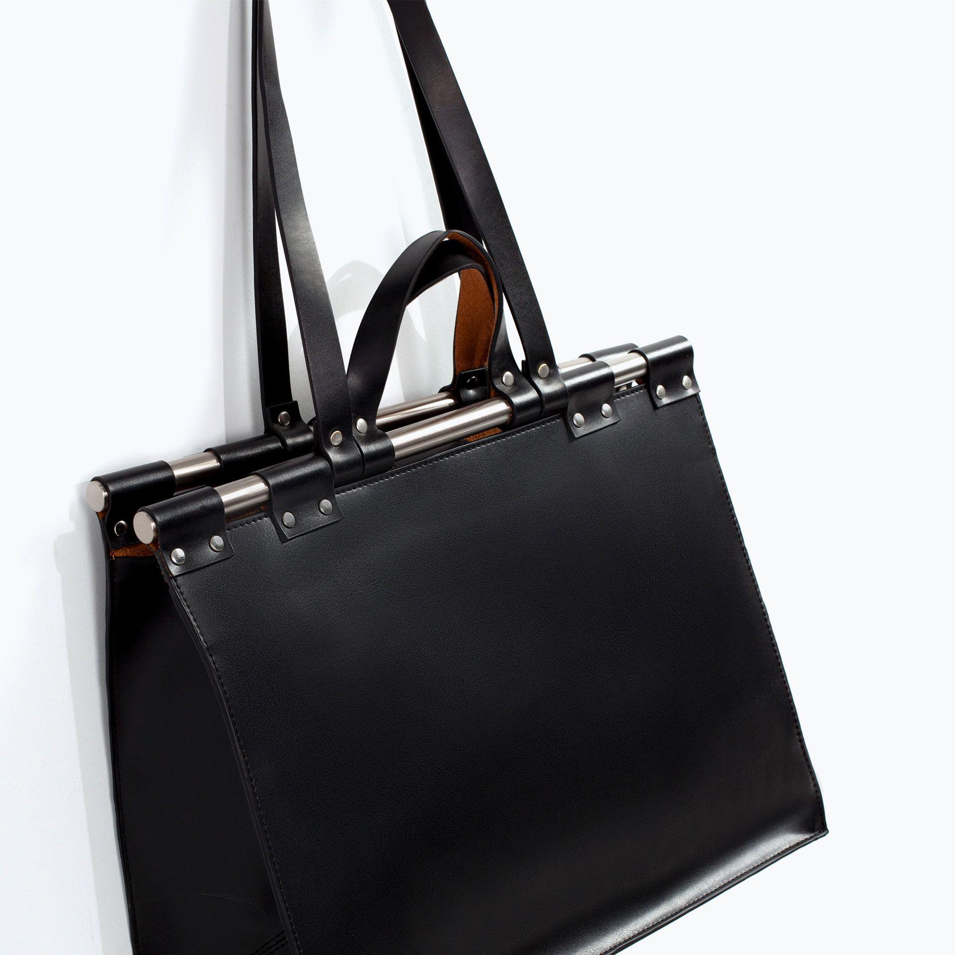 Mini leather tote bag zara - Zdj Cie 5 Kuferek Typu Doctor Bag Z Zara