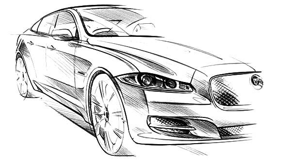 Jaguar Xj Exterior Sketch Wallpaper Coloring Page Bulk Color Jaguar Xj Jaguar Cars Coloring Pages