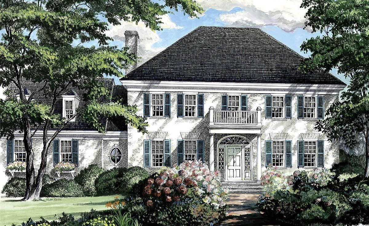 Plan 32444WP: Southern Colonial Home Plan