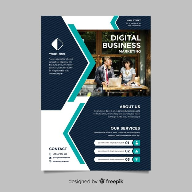 Download Business Flyer Template For Free Dengan Gambar Kartu Perpustakaan Desain Banner Desain Brosur