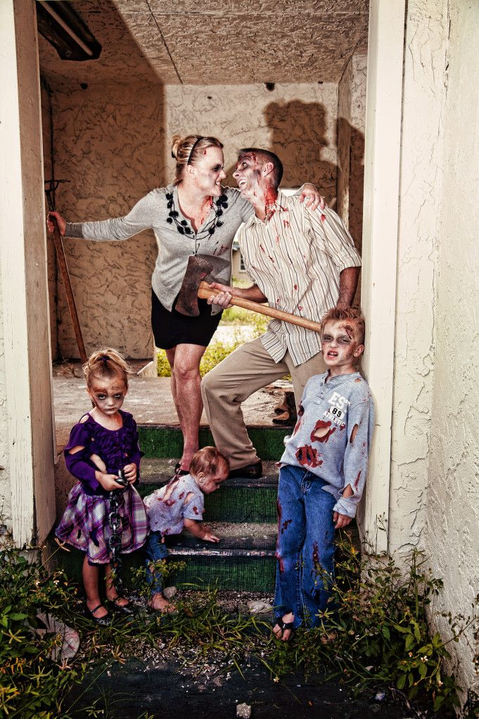 Halloween zombie family portraits by contemporary captures two bright lights blog