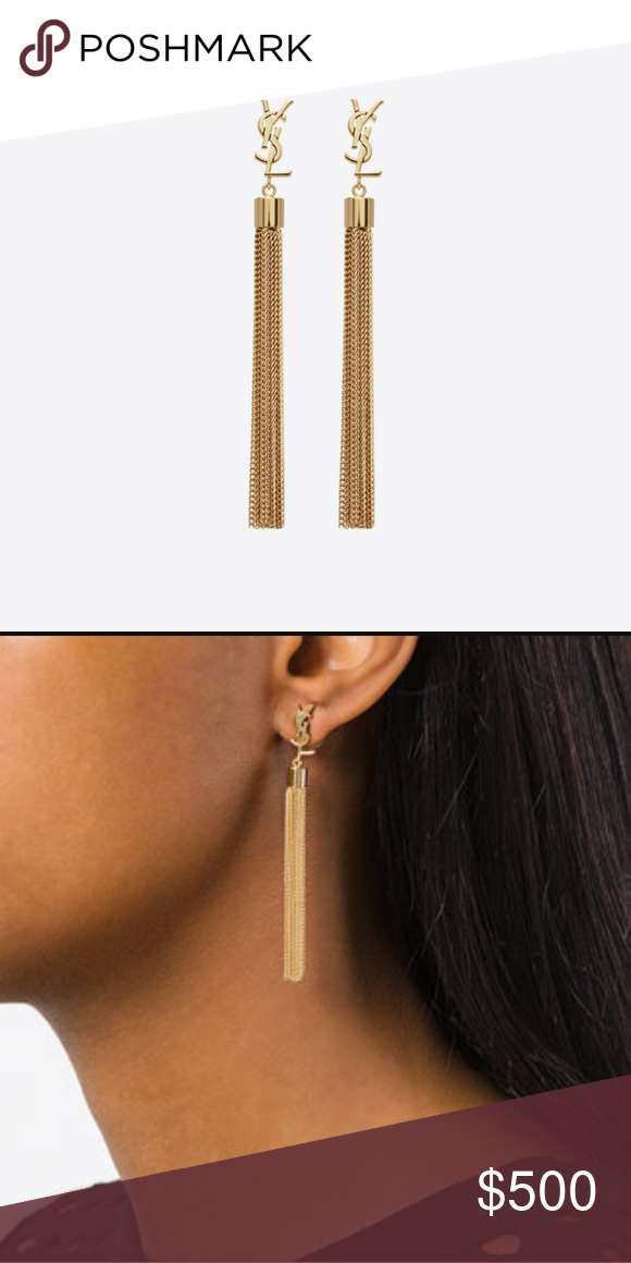 0c69797a795 I have a copy of the receipt and will include all original packaging.  Bought at YSL in Waikiki. Yves Saint Laurent Jewelry Earrings