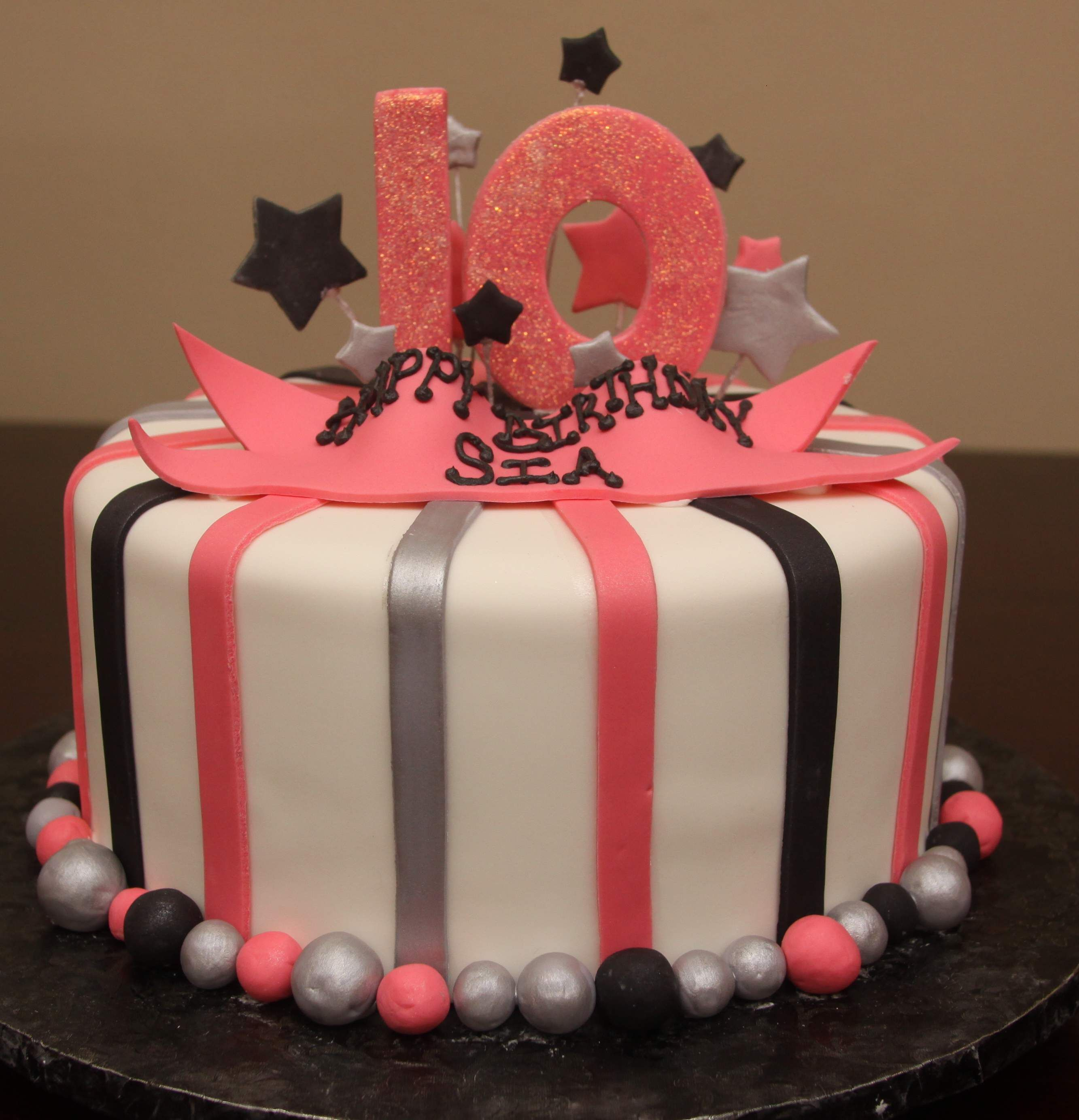 Birthday Cake For 10yr Old Girl 10th Birthday Cakes For Girls