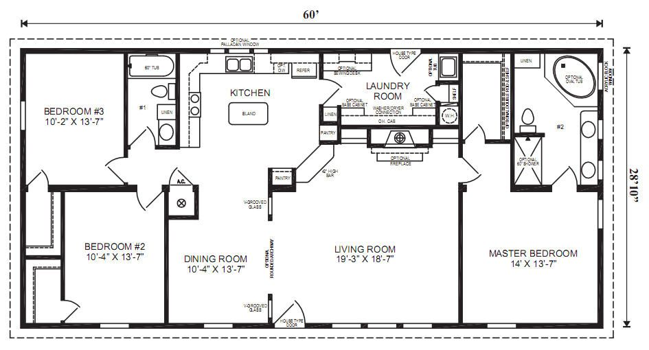 The margate specifications 3 bedrooms 2 baths square feet 1 730 dimensions 60 39 x 28 39 10 - Manufactured homes designs ...