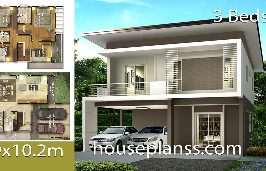 House Plans Idea 9x10 2 With 3 Bedrooms House Plans 3d Home Design Plans 20x40 House Plans Contemporary House Plans