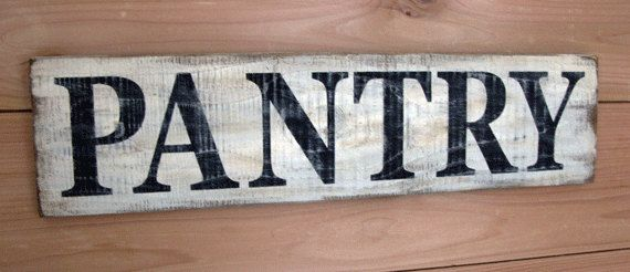 Pantry Sign - Wood Hand Painted Pantry Sign - 21.5 inches x 5.5 inches - Rustic Pantry Sign - Farmhouse Style Pantry Sign #largepantryideas
