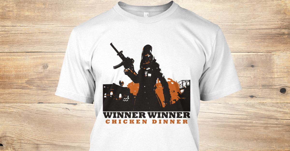 5e8879d8e PUBG Playerunknown's Battlegrounds Tshirt Tee Winner winner chicken dinner  #1