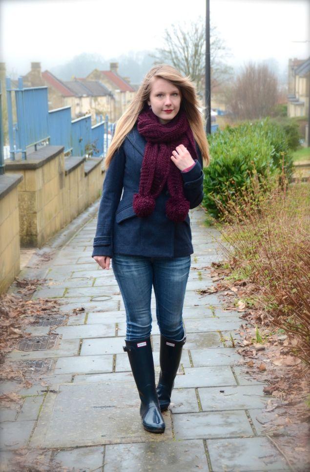 Jeans – Exact, Wellies – Exact, Coat – Similar, Scarf – Similar ...