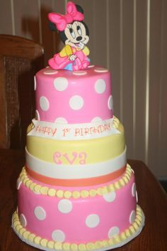 minnie mouse first birthday cake Google Search Cakes