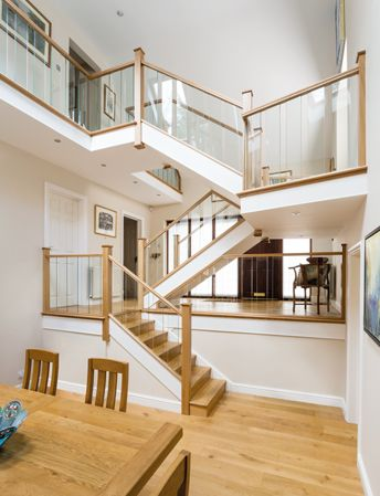 Beautiful Glass Stair Spindles – Neville Johnson Staircases