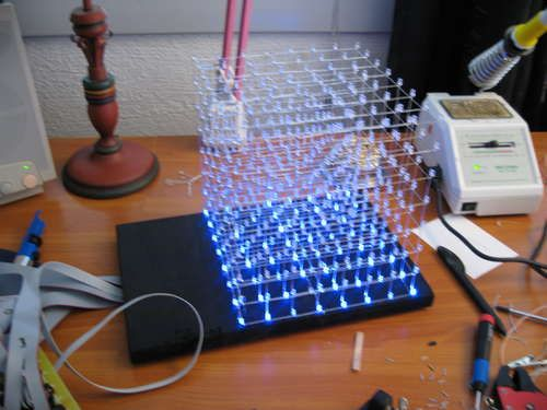 Tutorial how to make led cubes lego pinterest cube tutorials nothing brightens up a tech geeks room like an awesome led cube and hack n mod has got a couple of do it yourself instructions for building your own solutioingenieria Choice Image
