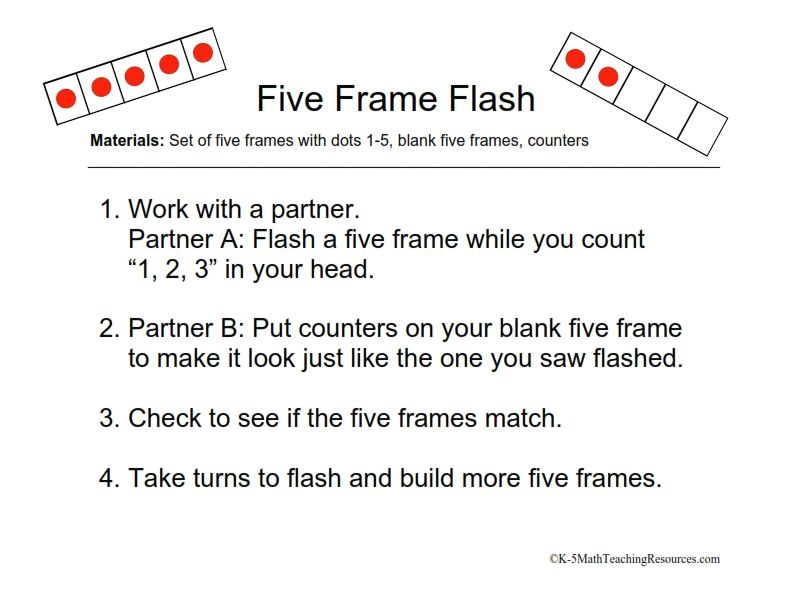 Download FREE math center activities using five frames on the ...