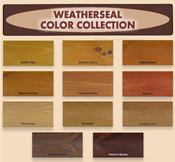 Exterior: Weatherseal Stain (Also For Decks) (Free Shipping Must