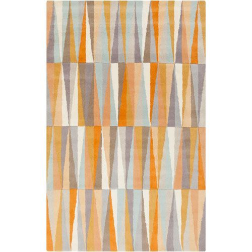 Best Surya Oasis Burnt Orange And Gray Rectangular 2 Ft X 3 Ft 400 x 300