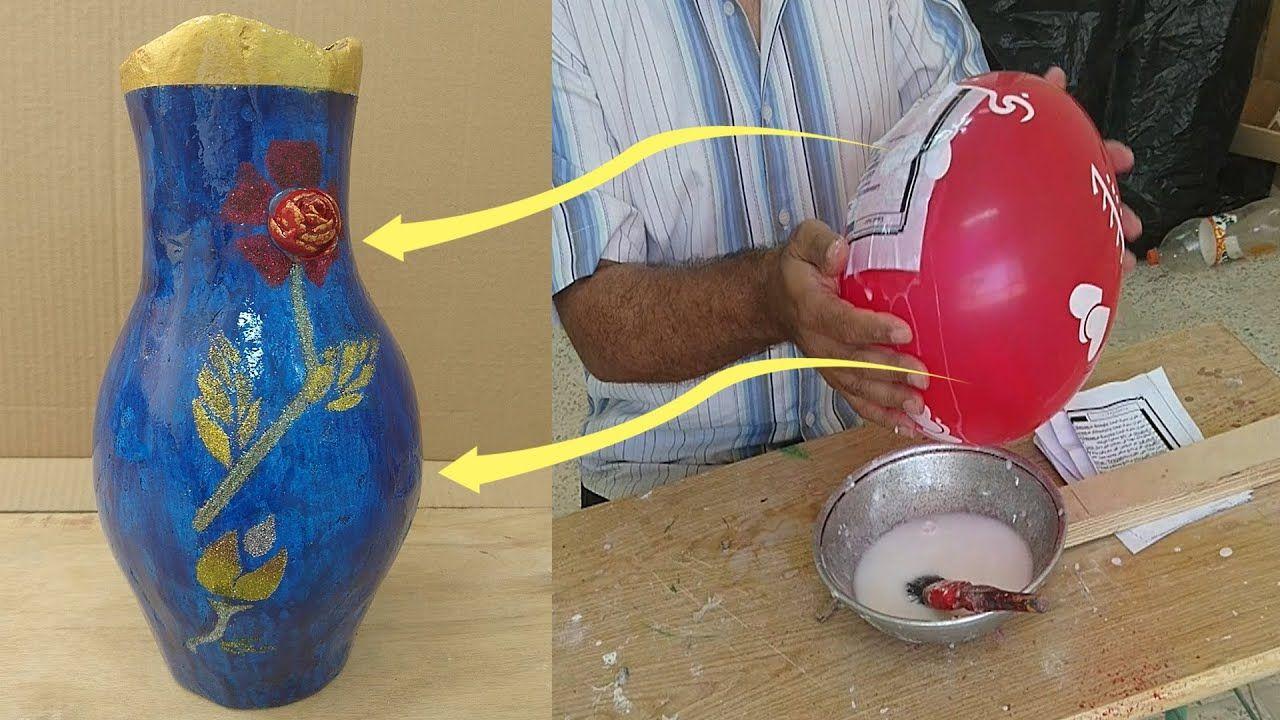 تحفة فريدة من نوعها فازة ورد لون ازرق من البالون