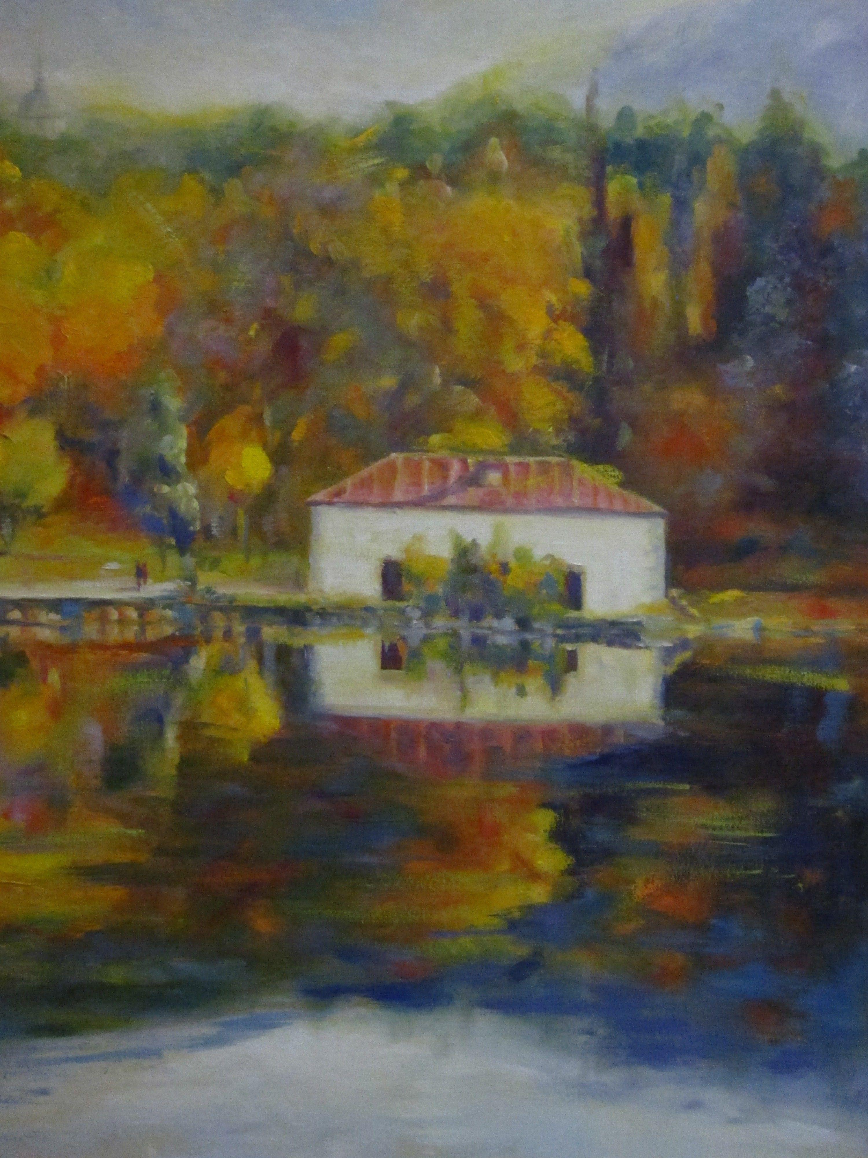Representa un estanque en la Sierra | Arte, cuadros | Pinterest ...