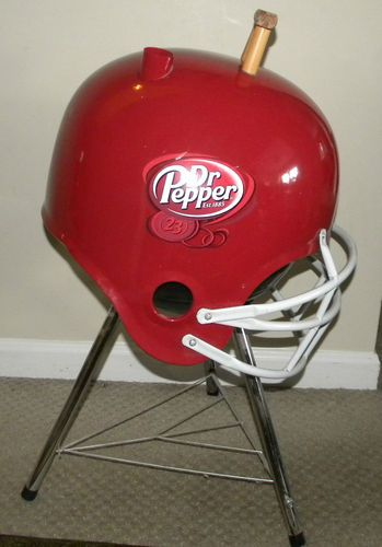 Football Helmet Grill : Dr pepper football helmet bbq tailgating charcoal grill