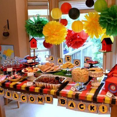 Welcome home soldier party idea with creative food ideas to use also military fiesta de bienvenida pancarta rh ar pinterest