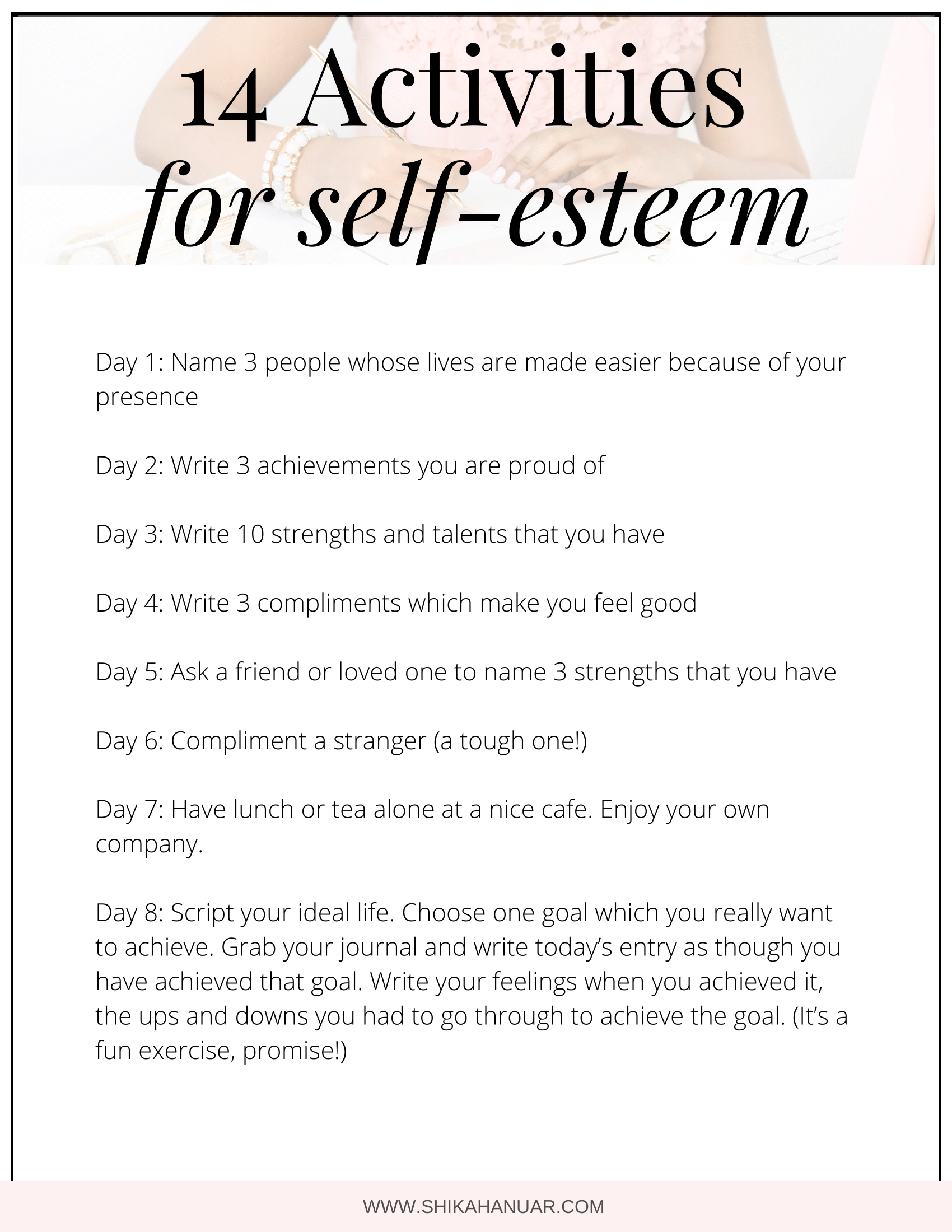 14 Activities To Build Your Self Esteem And Self Worth