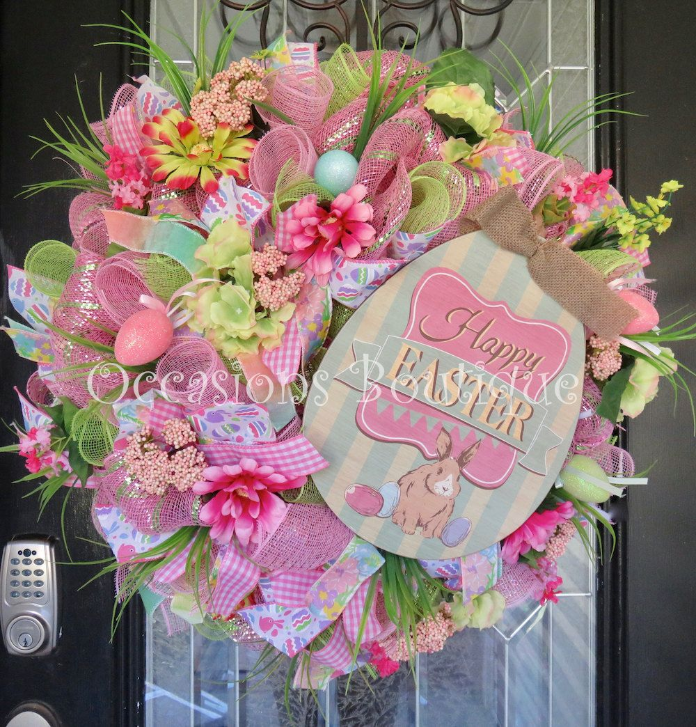 Easter Wreath, Spring Wreath, Wreath for Easter, Easter Decoration ...
