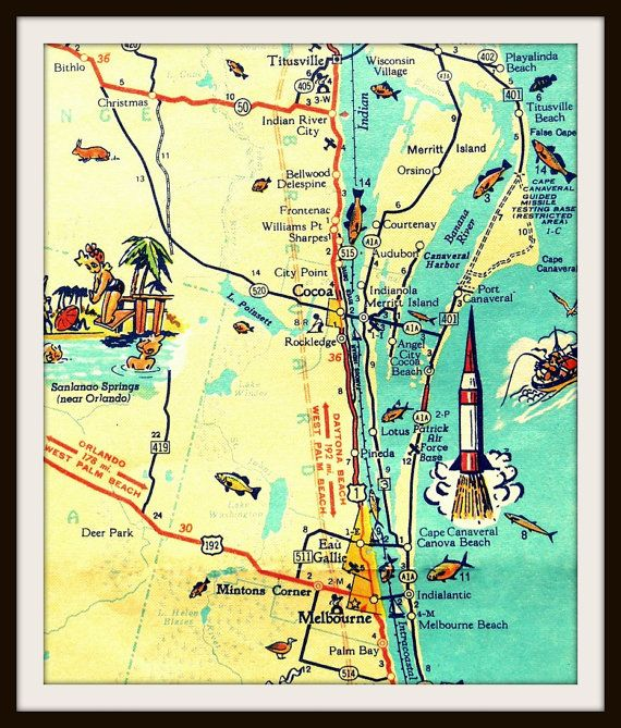 Florida map cape canaveral 100 images cape canaveral profile florida map cape canaveral cape canaveral retro map the to do s before the i do sciox Gallery