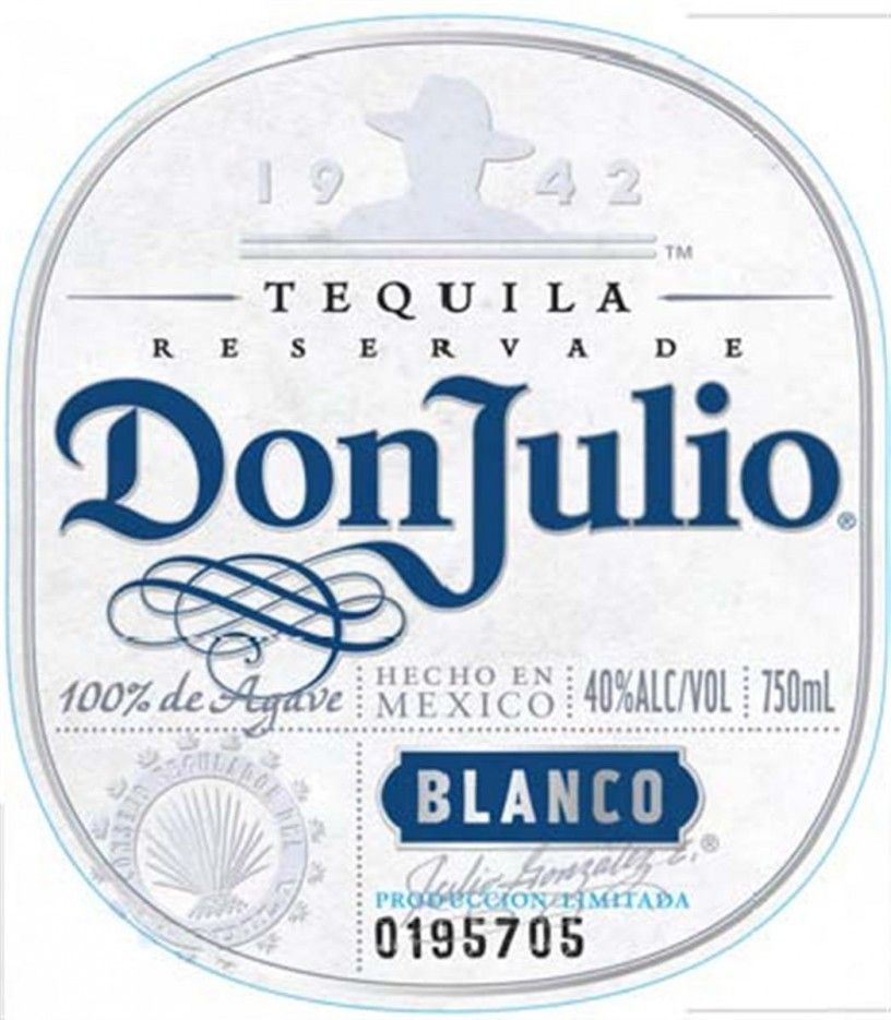 Don Julio Tequila Label Don Julio Tequila Tequila Tequila