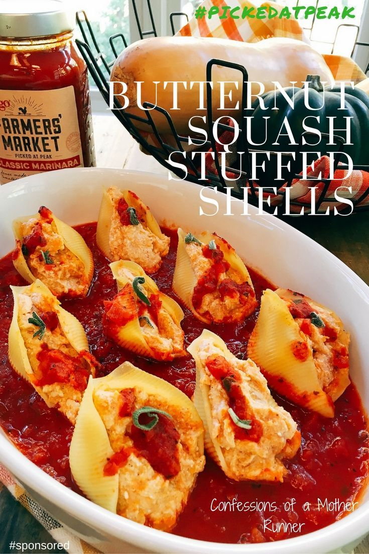 Butternut Squash Stuffed Shells Meatless Monday