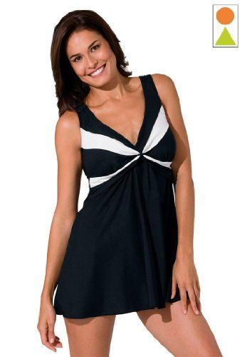 cf3e2dd4bf2 Amazon.com  Woman Within Plus Size Twist Front Swimdress From Robby Len   Clothing YOU CAN GET THIS SAME BATHING SUIT AT WALMART FOR WAY LESS!!
