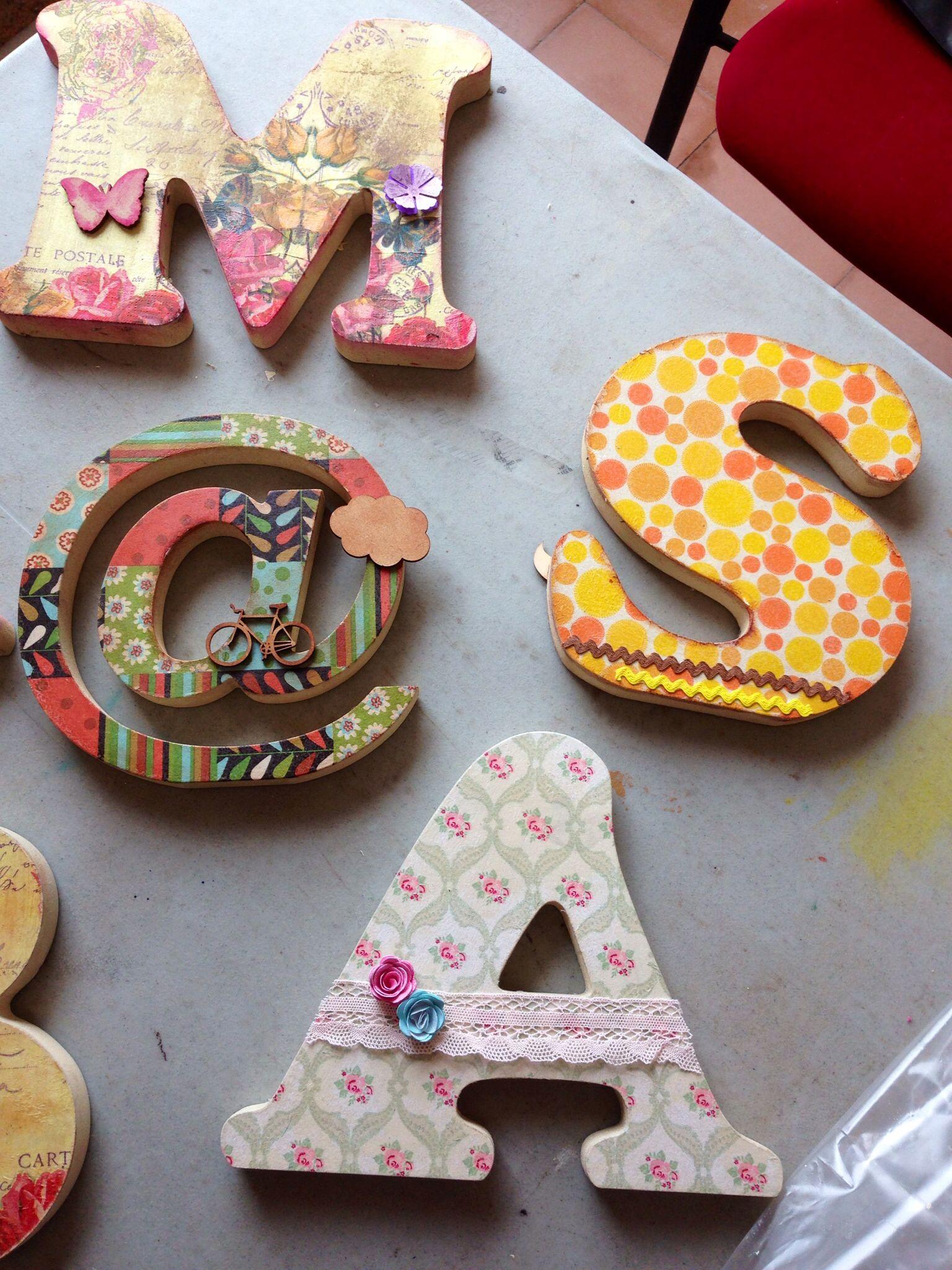 Mas letras decoradas en la feria Scrap+ Sitges, con Rachel Saez