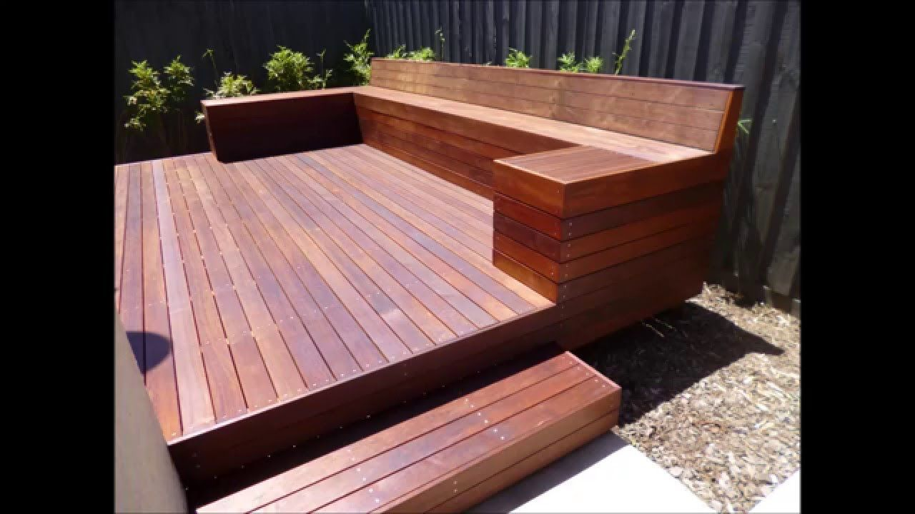 How To Build A Timber Deck With A Bench Seat Timber Deck Deck