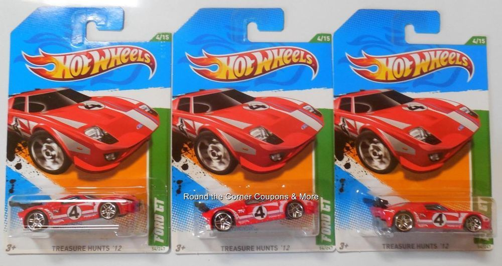 2012 Hot Wheels Treasure Hunt Ford Gt Lot 3 Regular Th 4 15 Hotwheels Ford