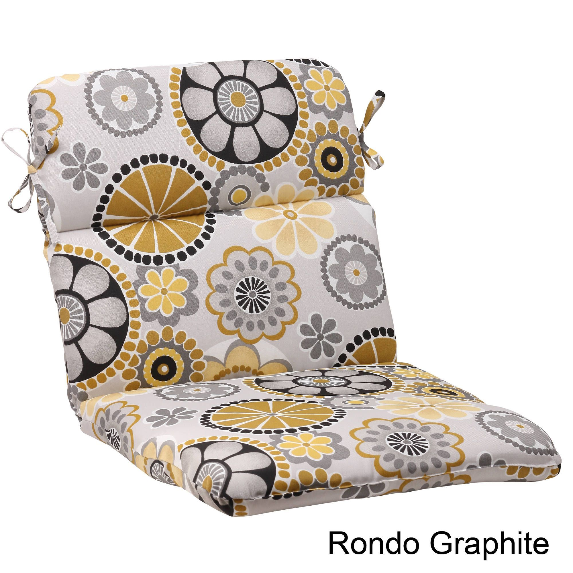 Pillow perfect rondo polyester rounded outdoor chair cushion rondo