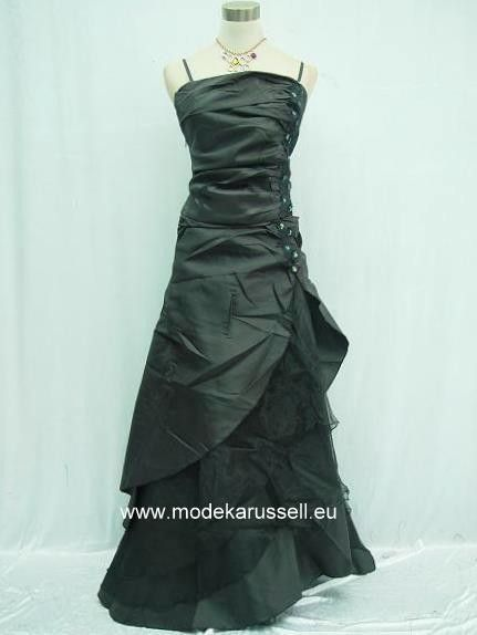 Träger Abendkleid Brautkleid Chantal in Schwarz ...