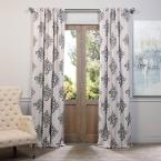 Exclusive Fabrics & Furnishings Semi-Opaque Tugra Blackout Curtain - 50 in. W x 84 in. L (Panel) images