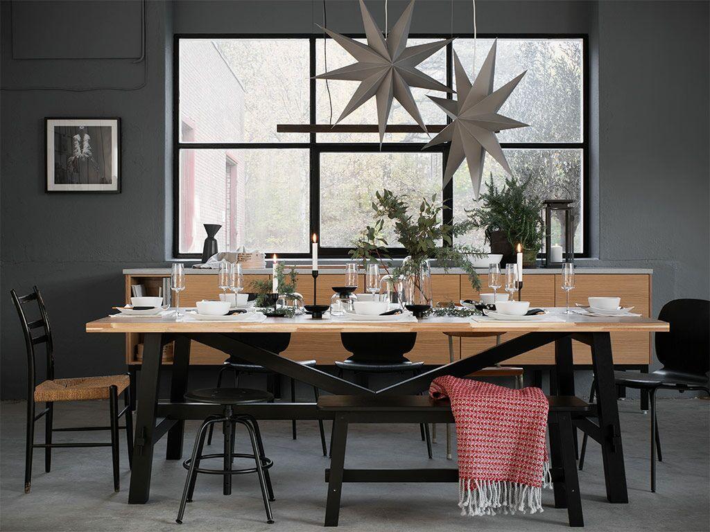Skogsta Dining Table Acacia Ikea Switzerland Decoration