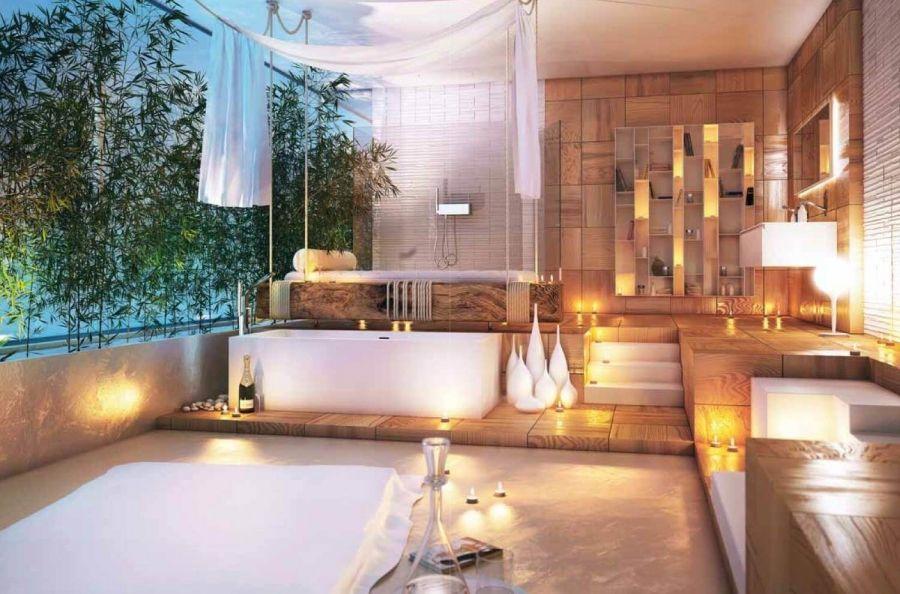 Badezimmer Deko Wellness Modernes Badezimmerdesign Luxushotel