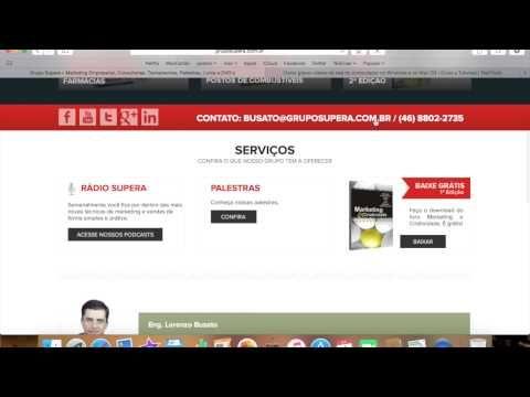 Conheça o Grupo SUPERA – (gravando a tela com o quicktime) | Lorenzo Busato | Marketing e Assessoria Empresarial