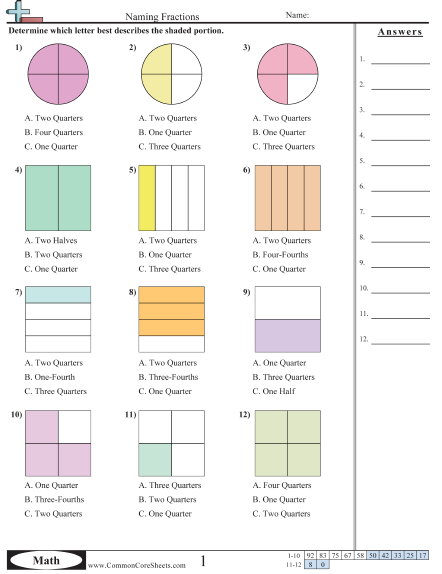 12+ Writing fractions worksheets Popular