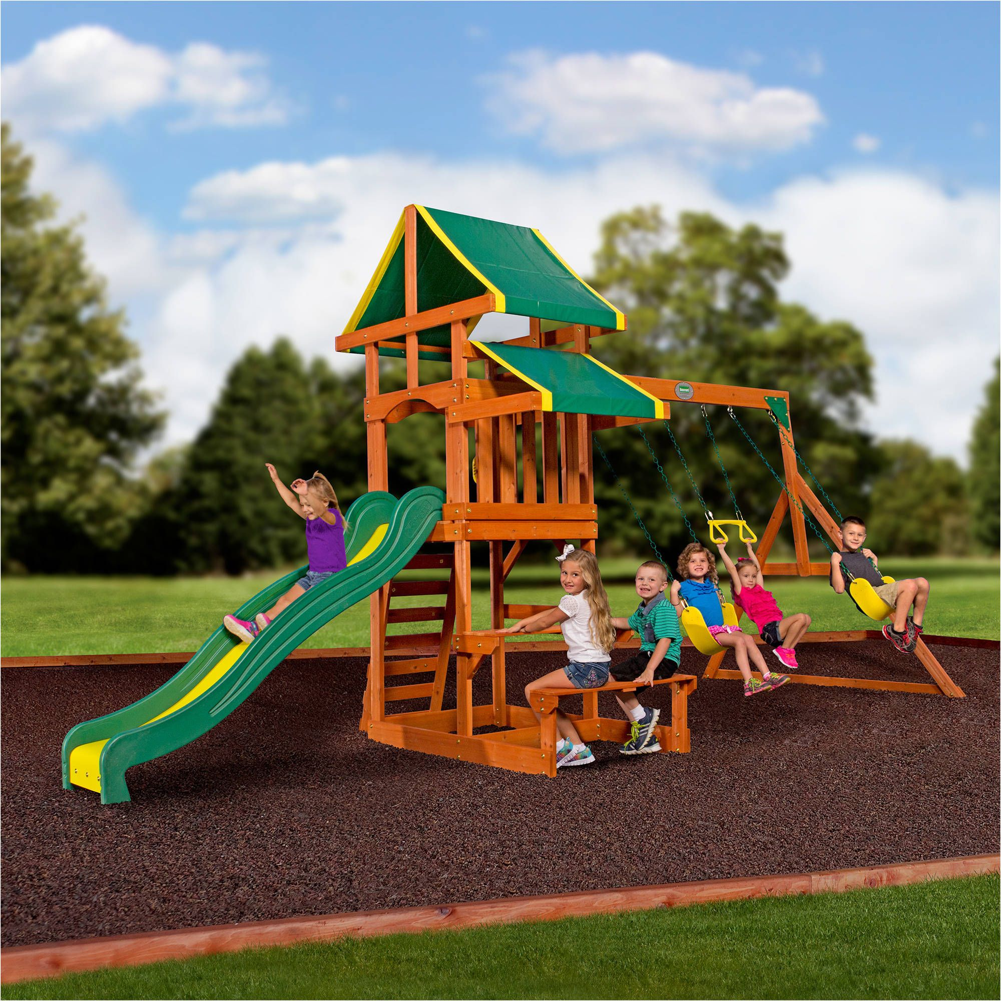 Toys With Images Wooden Swing Set Backyard For Kids Toddler