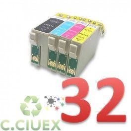 PACK 32 CARTUCHOS COMPATIBLES EPSON T1301/2/3/4 A ELEGIR COLOR