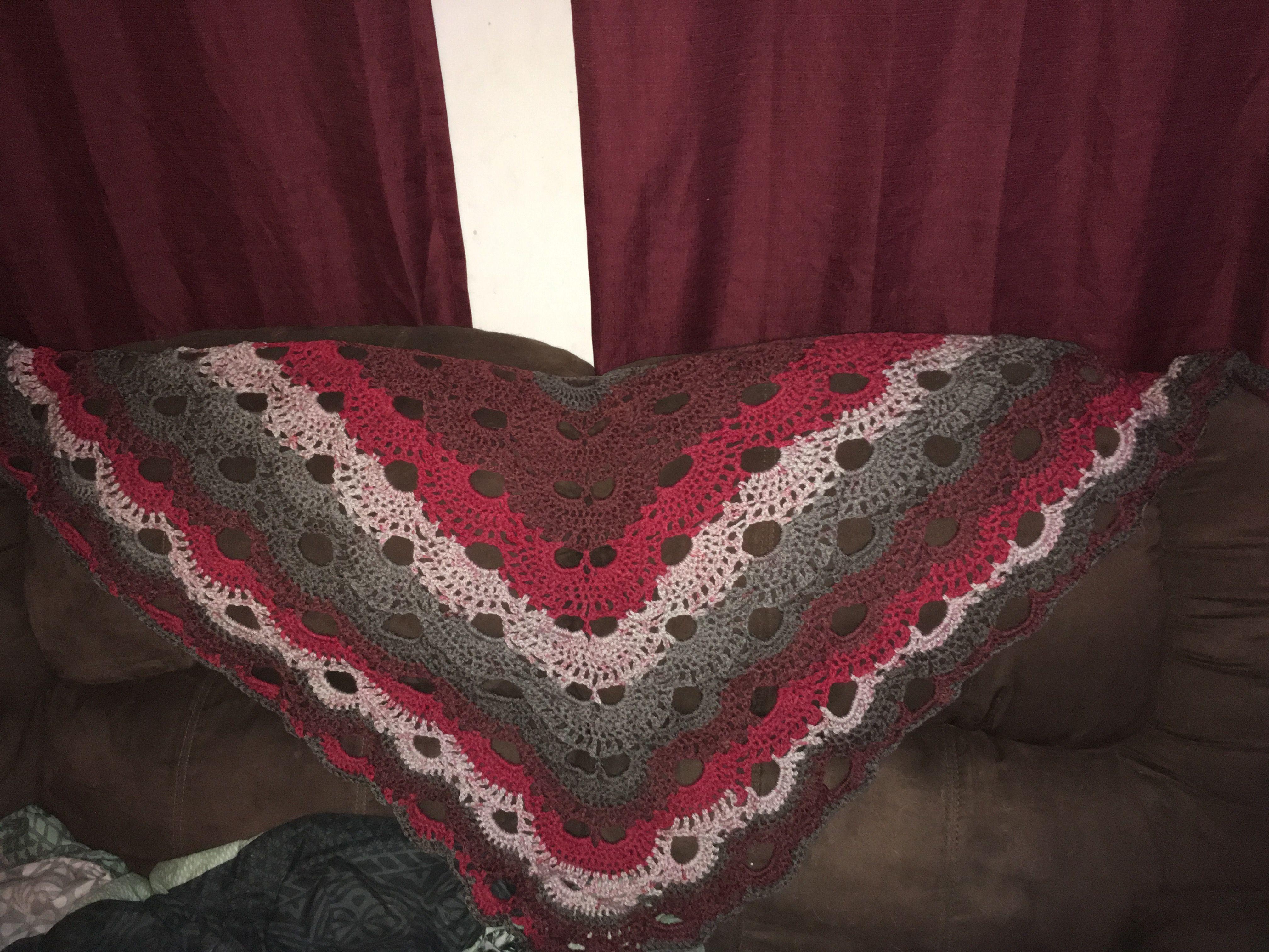 Virus Shawl made with Caron Cakes Red Velvet yarn   Crochet   Pinterest