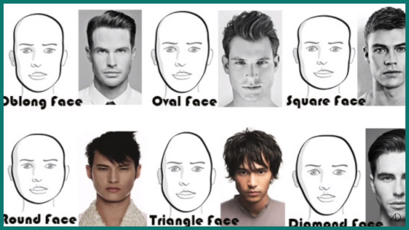 Men Face Shapes Hairstyles In 2020 Oblong Face Hairstyles Diamond Face Shape Hairstyles Face Shapes