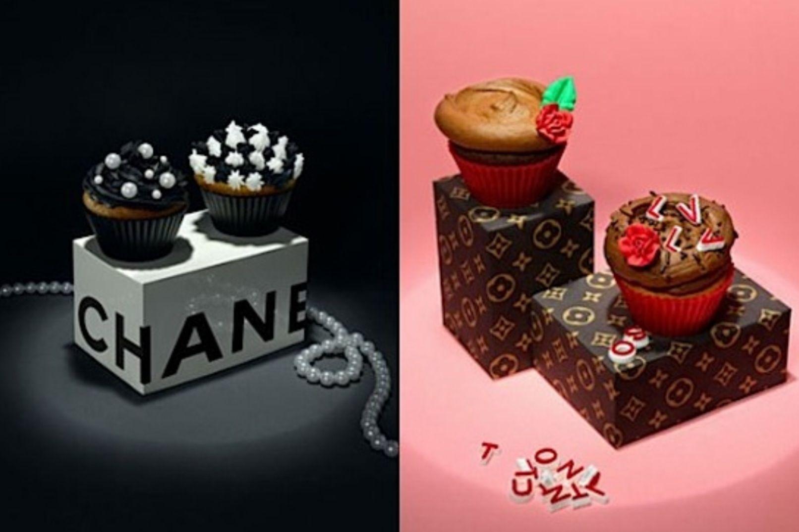Cupcakes love LV & Chanel