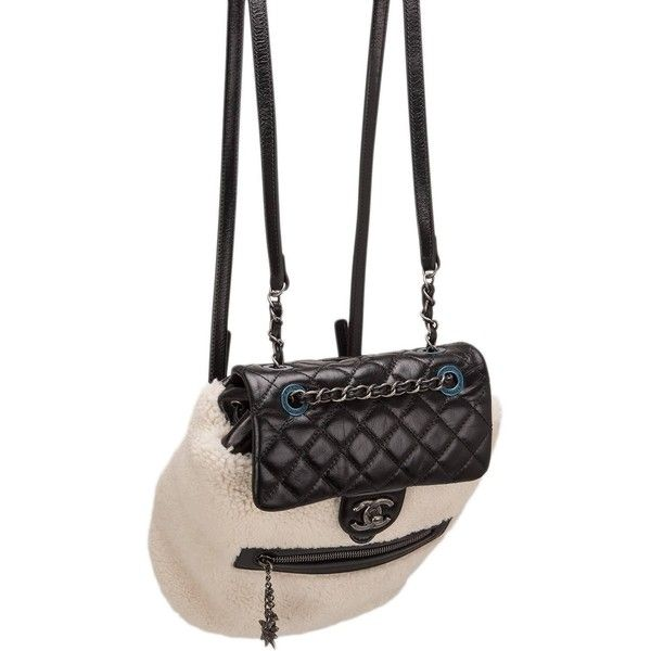Chanel Limited Edition Black Calfskin And Shearling Large Backpack ... 8f850ec5244a2