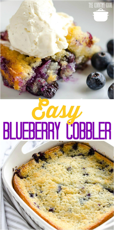 BEST EASY BLUEBERRY COBBLER