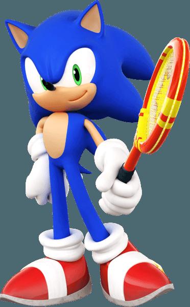 Sonic Holding His Raquet In Sega Superstars Tennis Biggest Sonic Gallery Online Http Sonicscene Net Media And Downloads O Sonic The Hedgehog Sonic Sega