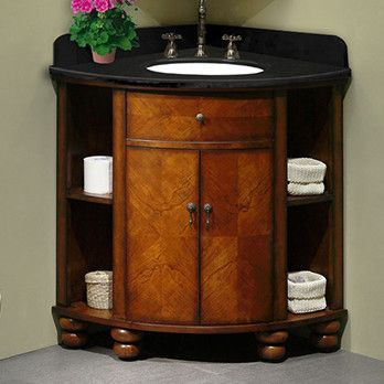 Xylem CARLTON Corner Vanity X X The Curved Front Unusual, Storage For  Towels And TP Nice! However, The Commode Would Be Right Against The Right  Side, ...